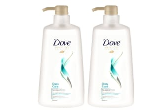 2x Dove 640ml Shampoo Daily Care w/Lightweight Technology f/ Normal to Fine Hair