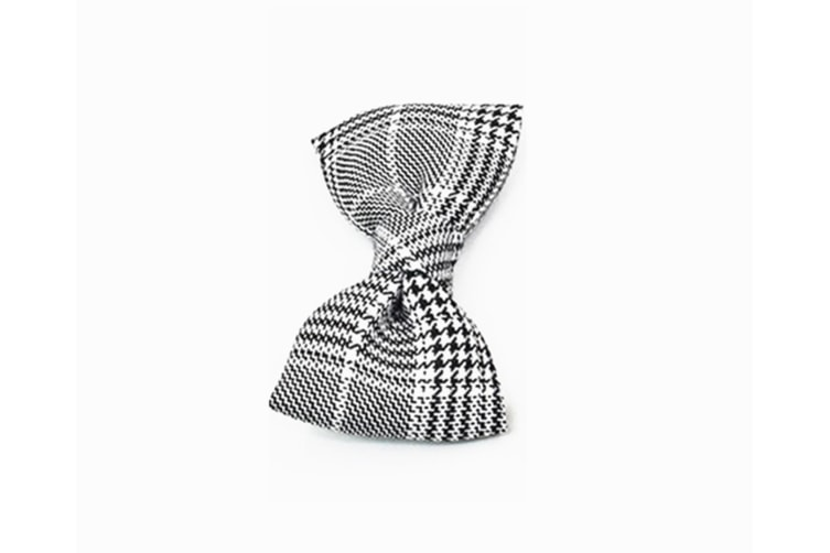 Adjustable Plaid Pet Dogs Cats Comfortable Durable Bowtie Collars - Grey White Stripes Grey