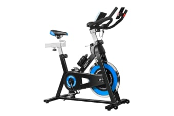 Genki Indoor Spin Bikes Spinning Exercise Bike with Flywheel Blue