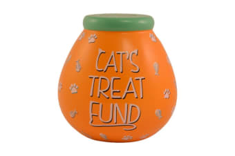 Pots Of Dreams Cat Treat Fund Money Pot (Orange) (One Size)