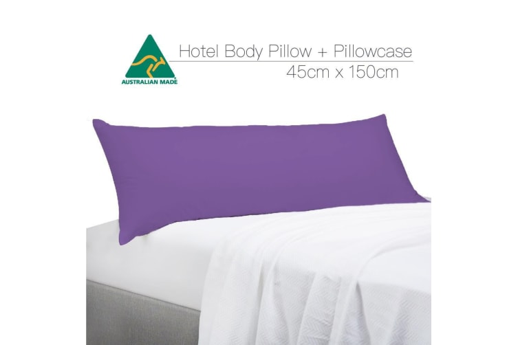Purple Color Aus Made Full Long Body Pillow