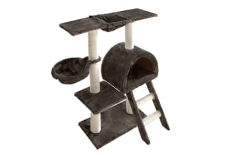 Multi Level 100CM Cat Scratching Poles Tree with Ladder (Grey)