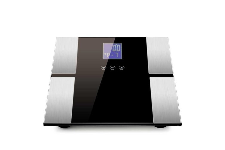 SOGA 2x Black Digital Body Fat Scale Bathroom Scales Weight Gym Glass Water LCD Electronic