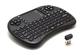 2.4Ghz Mini Wireless Keyboard Touchpad Mouse Combo Rechargeable Usb 2.0 Ukb-500 Blk