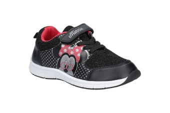 Leomil Girls Minnie Mouse Trainer (Black/White/Red)