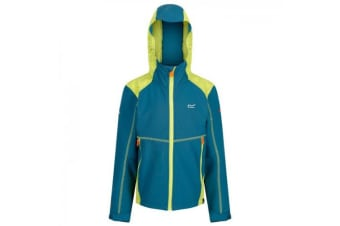 Regatta Childrens/Kid Acidity III Reflective Softshell Jacket (Sea Blue/Lime Punch) (3-4 Years)
