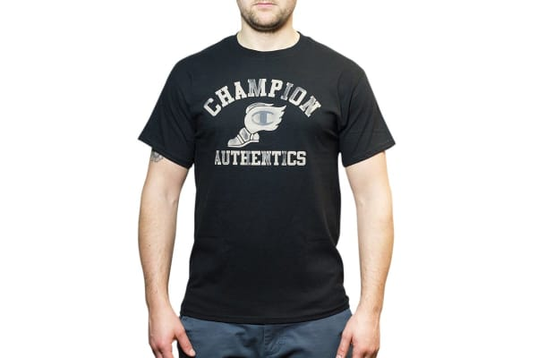 Champion Men's Graphic Jersey Tee - Black/Mountain Road (Size S)
