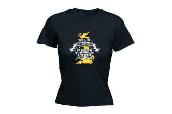 123T Funny Tee - This Is The Uk We Speak FUCKing English - (X-Large Black Womens T Shirt)