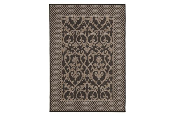 Singular Indoor Outdoor Modern Black Rug 160X110cm