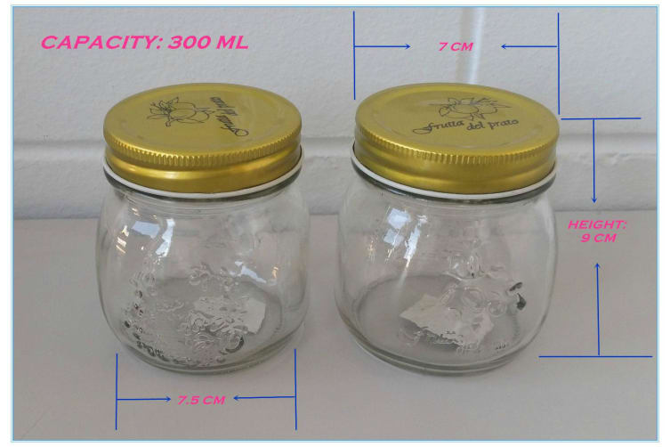 24 x Small (300ml) Jam Conserve Dessert Candy Storage Glass Jar w/h Silver Lid