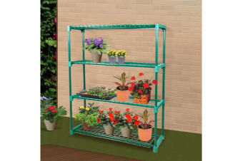 2x Garden Greenhouse steel Plant Storage Shelving Stand 4 tier Rack