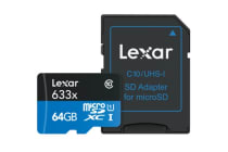 Lexar 64GB High-Performance Micro SDHC/MicroSDXC UHS-I Card (633x)