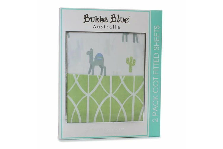 2PK Bubba Blue Sahara Cot Fitted Sheet