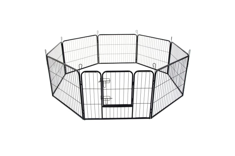 """40"""" Best 8 Panel Pet Playpen Dog Cage Puppy Exercise Crate Enclosure Rabbit Fence"""