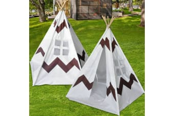 Kids Children Home Canvas Teepee Pretend Play Tent Playhouse Tipi Outdoor Indoor