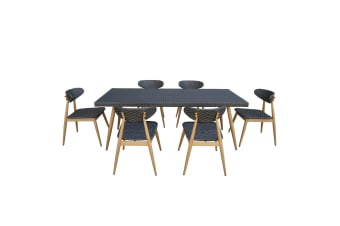 Ciaran 6 Seater Wicker Outdoor Table and Chairs Dining Set