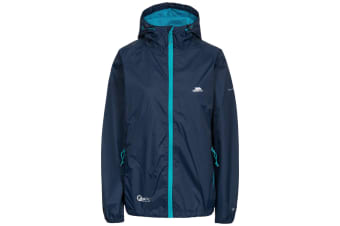 Trespass Womens/Ladies Qikpac Waterproof Packaway Shell Jacket (Navy)