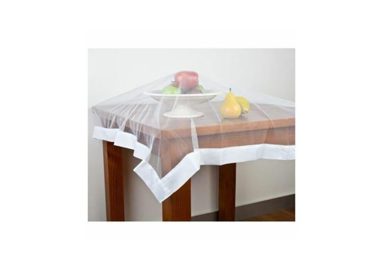 "Appetito ""No Fly Zone"" Table-Throw Mesh Food Cover Picnic Table Tent White"