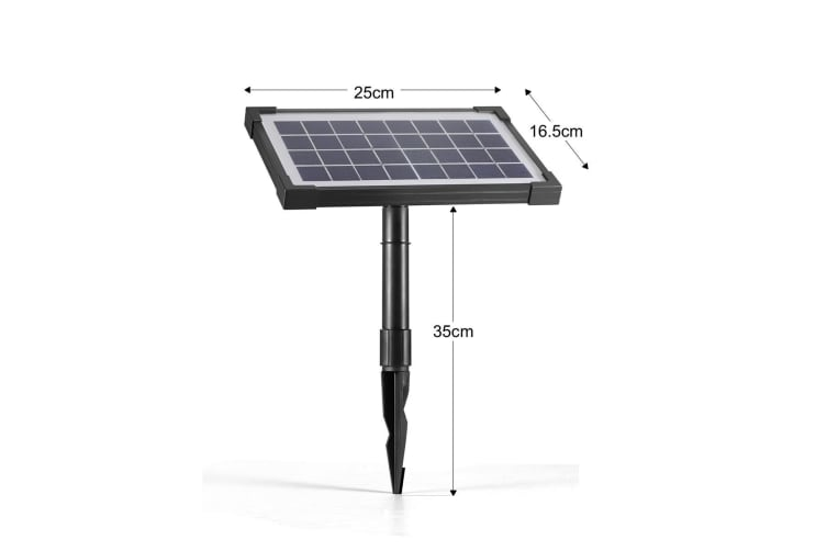 Solar Power Fountain Water Pump Kit Water Display with Timer & LED Lights - 3.5w