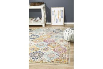 Hazel Multi Durable Moroccan Tile Rug