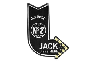 Jack Daniel`s Light Up Tin Sign | Officially Licensed Merchandise
