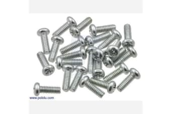 "Machine Screw: #2-56, 1/4"" Length, Phillips (25-pack)"