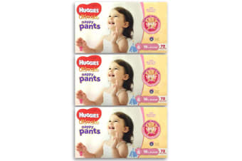 216pc Huggies Ultimate Nappy Pants Girls 16kg & Over Size 6