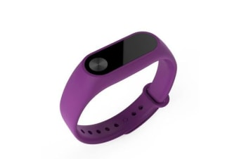 Fitness Band Heart Rate Monitor Smart Watch For Apple Samsung Purple