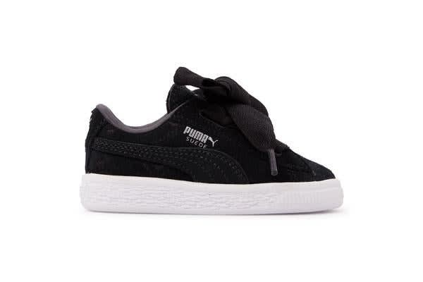 on sale 16b1a 295c3 Puma Infants Suede Heart Valentine (Black, Size 7)
