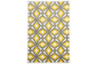 Indoor Outdoor Nadia Rug Grey Yellow