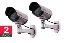 2 Pack Replica CCTV Security Camera