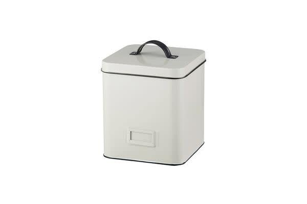 Pantry Canister w/ Label Holder Cream