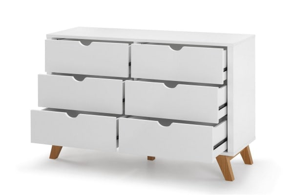 Ovela Chest of 6 Drawers - Finse Collection (White)