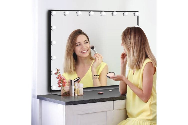 Maxkon Hollywood Frameless Makeup Mirror with 18 LEDs