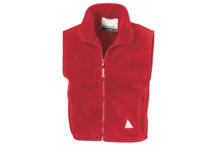 Result Childrens Unisex Anti-Pill Polar-Therm® Fleece Bodywarmer / Gilet (Red) (M)