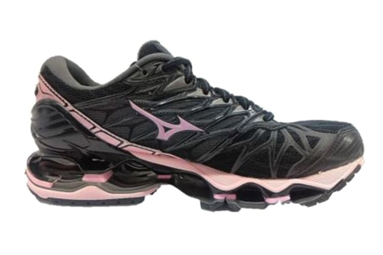 Mizuno Women's WAVE PROPHECY 7 Running Shoe (Black/Rose Shadow/Dark Shadow, Size 7.5 US)