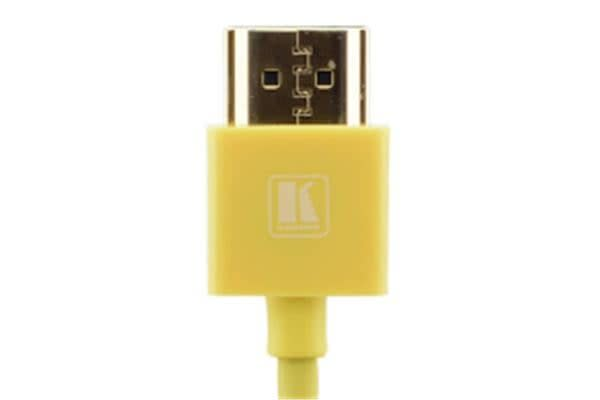 Kramer Ultra Slim High Speed HDMI Flexible Cable with Ethernet - 91.44cm - Yellow