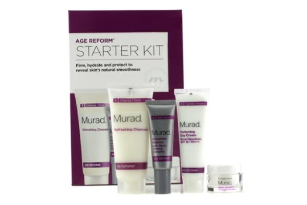 Murad Achieve Ageless Complete Skin Renewal Kit: Cleanser + Day Cream + Complete Reform + Ultimate Moisture (Exp. Date 03/2015) (4pcs)