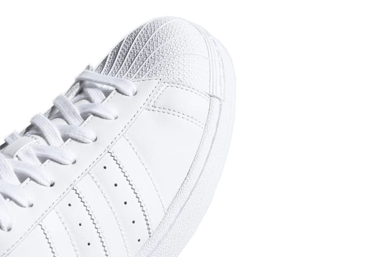 Adidas Mens Superstar Classic White Black Leather Trainers Flat Shoes Sneaker