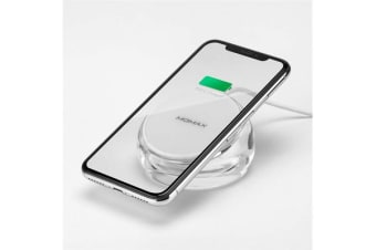 Momax Crystal Fast Wireless Charging Stand Support Apple iPhone 7.5W and Android 10W Fast wireless
