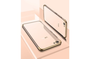 Three Section Of Electroplating Tpu Slim Transparent Phone Shell For Vivo Gold Vivo X20Plus