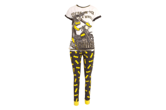 DC Comics Womens/Ladies Batwoman Youre In For A Wheelie Good Night (White/Black/Yellow)