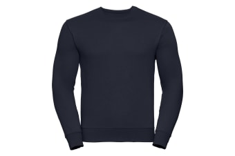 Russell Mens Authentic Sweatshirt (Slimmer Cut) (French Navy) (L)