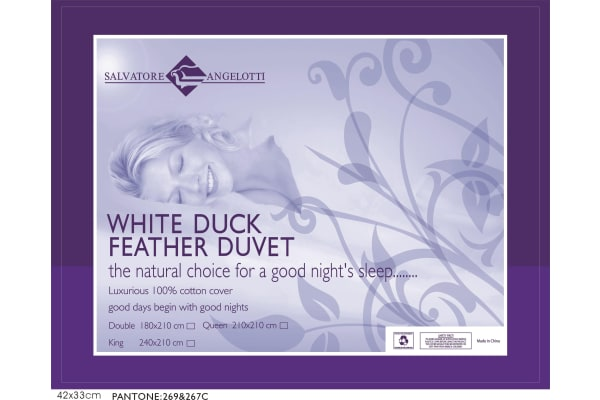 King Quilt - 100% White Duck Feather
