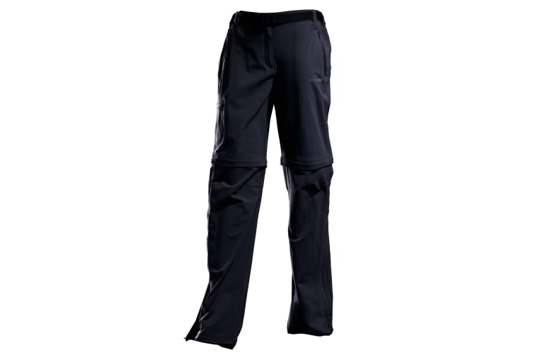 Regatta Great Outdoors Womens/Ladies Xert II Quick Drying Convertible Walking Trousers (Black) (46)