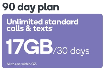 Kogan Mobile Prepaid Voucher Code: LARGE (90 Days | 16GB Per 30 Days) - No SIM