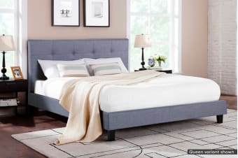 Ovela Bed Frame - Positano Collection (Pewter Grey)