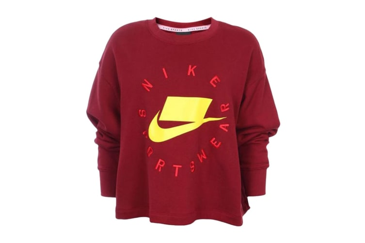 Nike Sportswear NSW Women's French Terry Crew (Team Red, Size L)