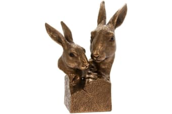 Reflections Bronzed Hare Busts Ornament (Bronze) (One Size)