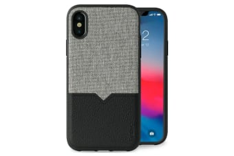 Evutec Northill Drop Proof Fabric/Leather Case f/ Apple iPhone XS MAX w/Mount BK